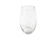 Vase obus en verre 12 x 19 cm