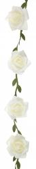 Guirlande de roses blanches 120 cm