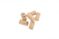 6 Bouchons de liège naturel 2,4 x 4,5 cm