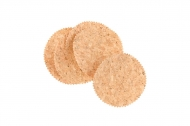 12 Confettis ronds en liège 10 cm