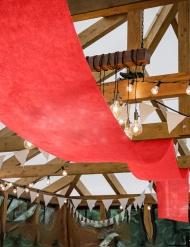 Tenture de mariage rouge 80 cm x 25 m