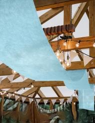 Tenture de mariage bleu pastel 80 cm x 25 m