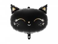 Ballon aluminium chat noir 48 x 36 cm
