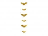 Guirlande chauve-souris dorée métallisée 150 x 11 cm