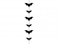 Guirlande chauve-souris noire 150 x11 cm