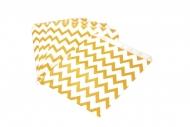25 Sachets en papier chevrons oranges 13 x 17 cm