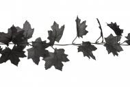 Guirlande de feuilles noire 1,70 m