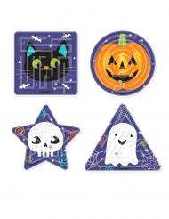 4 Labyrinthes à bille petits monstres Halloween 16 x 23 cm