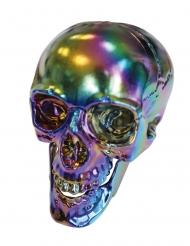 Crâne Halloween reflets métallisés 20 cm
