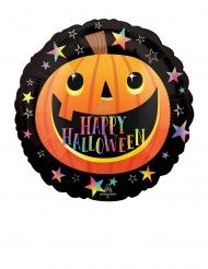 Ballon aluminium citrouille happy Halloween 45 cm