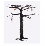 Arbre d'Halloween avec crânes 28 cm