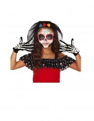 Gants squelette noir et blanc enfant