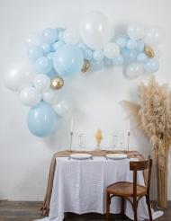 Kit arche de 57 ballons bleue et blanche