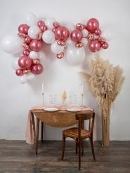 Kit arche de 70 ballons rose gold