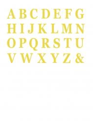 48 Lettres adhésives or 13,5 cm