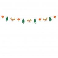 Guirlande en papier forêt de Noël 1,7 m