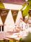 Guirlande à fanions anniversaire Kraft & blanc 3.60m-1