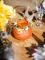 Vase pêche avec raphia-1