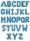 Ballon aluminium lettre bleue 81 cm-1