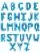 Ballon en aluminium lettre bleu 35 cm-1