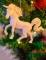Suspension licorne pailletée 14 cm coloris aléatoire-2