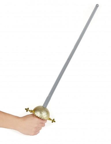 Épée manche rond de justicier en plastique-1