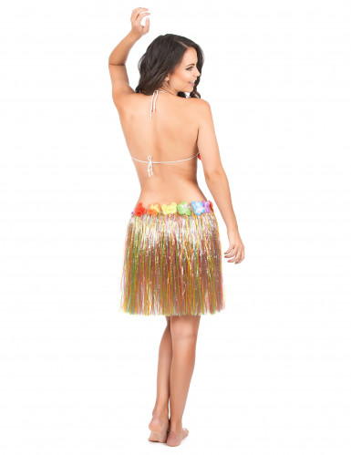 Jupe hawaïenne multicolore adulte-2
