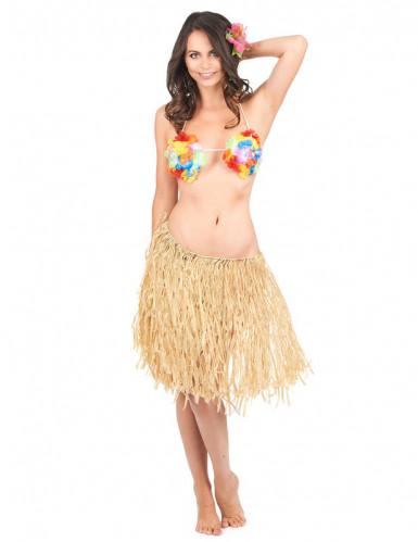 Jupe raphia Hawaï adulte-1