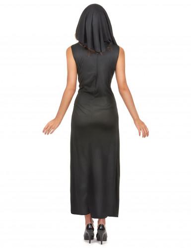 Déguisement nonne sexy robe fendue femme-2