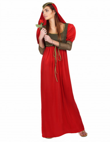 Déguisement médiéval rouge femme