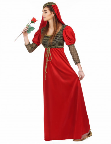 Déguisement médiéval rouge femme-1