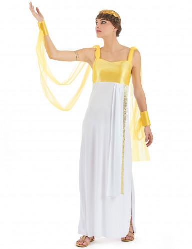 Déguisement déesse grecque avec voilage femme