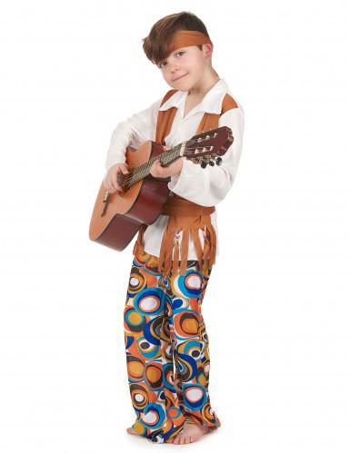 Déguisement hippie marron garçon-1