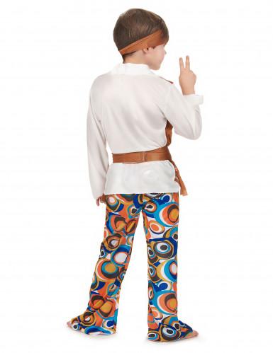 Déguisement hippie marron garçon-2