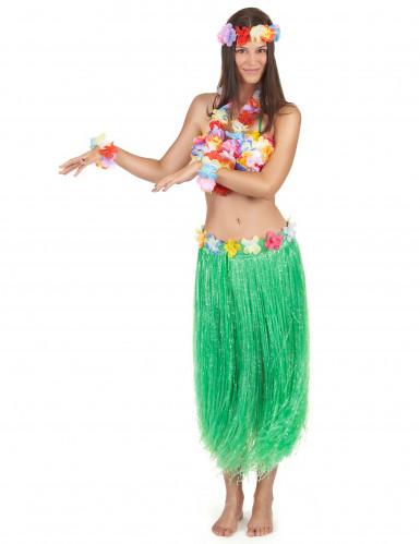 Set Hawaï vert adulte