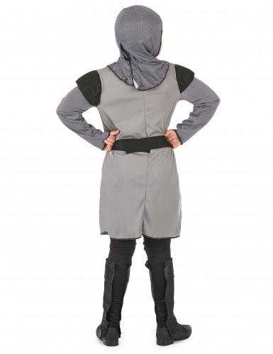 Déguisement chevalier médiéval gris garçon-2