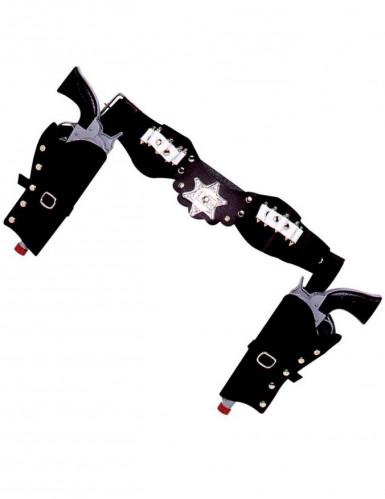 Porte revolver cow-boy noir en plastique