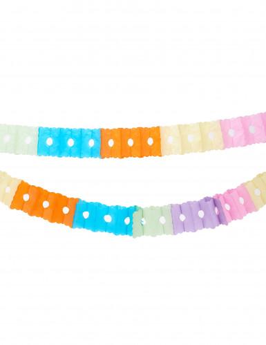 Guirlande en papier multicolore 6 m