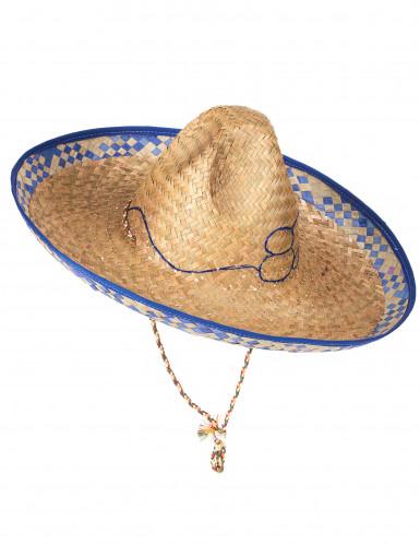 Sombrero mexicain en paille adulte-1