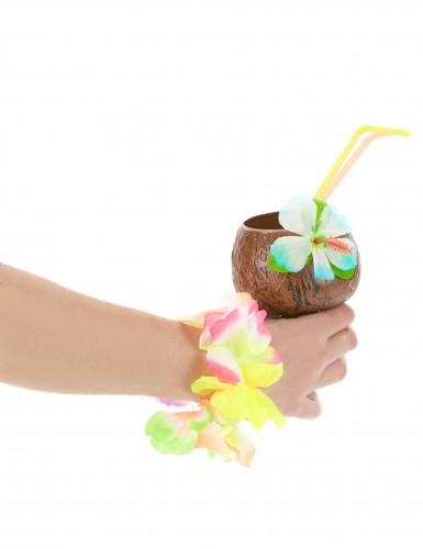 Coupe Hawaï noix de coco fleur bleue-1