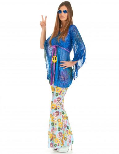 Déguisement flower power hippie femme-1