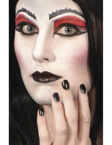 Rouge à lèvre et vernis noir Halloween