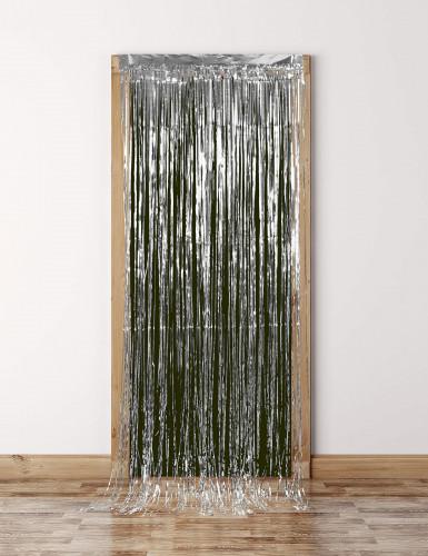 Rideau scintillant argent 91 x 244 cm-2
