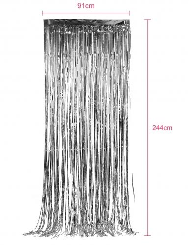 Rideau scintillant argent 91 x 244 cm-1