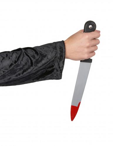 Couteau plastique ensanglanté Halloween-1