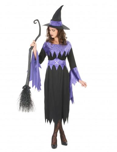 Déguisement sorcière avec chapeau femme Halloween