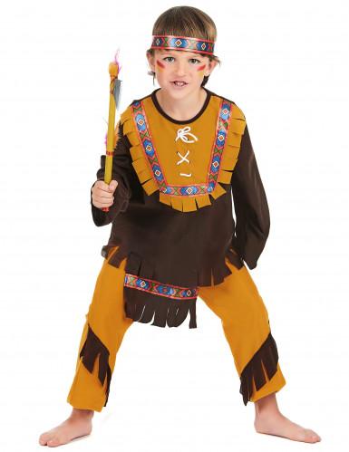 Déguisement indien marron et ocre garçon