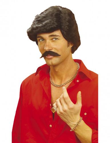 Perruque et moustache Casanova  homme