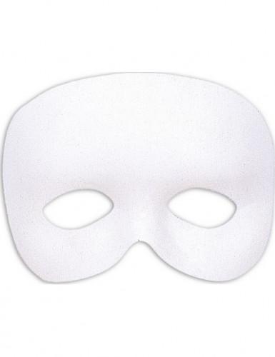 Demi-masque blanc adulte