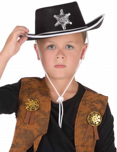 Chapeau cowboy noir enfant-1